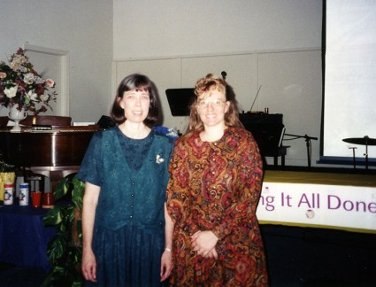 "Mom gave a ""Getting It All Done"" workshop in the Columbia, Missouri area that first year."