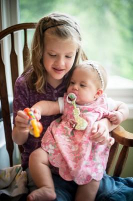 Abby loves little ones!