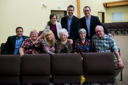 It was a delight to see some of our relatives Friday evening!