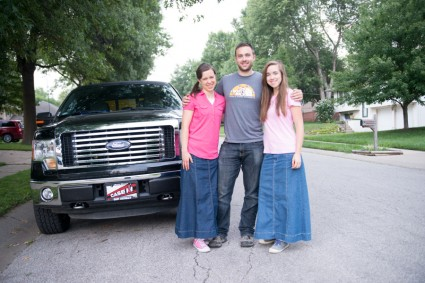 This morning before we left: we took John's truck too.