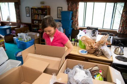 Anna has done an amazing job planning food for 19 people--and packing it all! She had things in boxes and labeled and set up her kitchen when we got here.