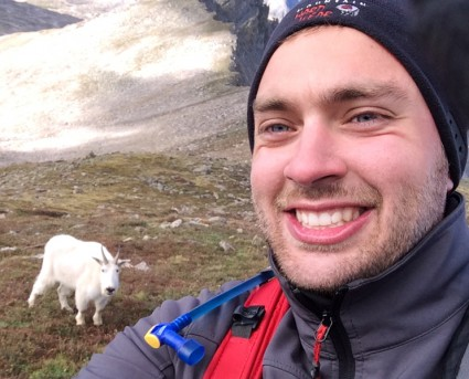 Talk about a selfie! I guess the goat got the memo too.