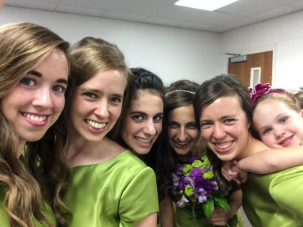 Mary, Sarah, Elissa's sisters, Anna, and Bethany (a flower girl)