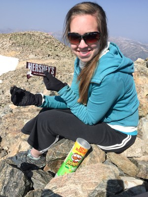 Chocolate on the summit: can't beat that!