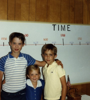 Nathan, Sarah, and Christopher in the early years