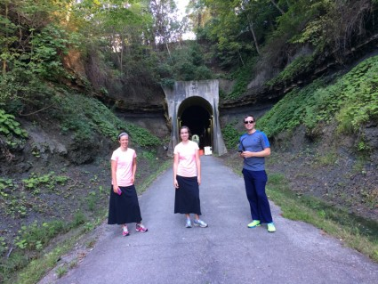We ended up turning around here due to the tunnel being closed.