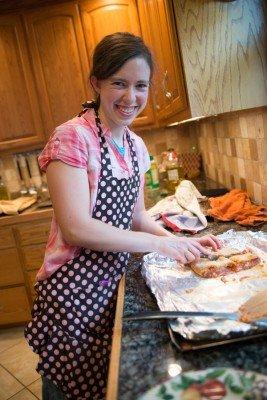 Anna made delicious pepperoni Strombolis.
