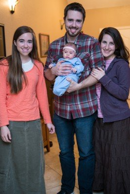 Mary, Joseph, Calia, and Elissa last night as we had, J, E, and C over for dinner.