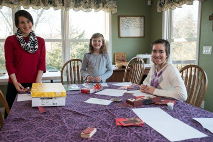 Since Anna Marie helped, the girls wanted to bless her and they assembled her Christmas letters!