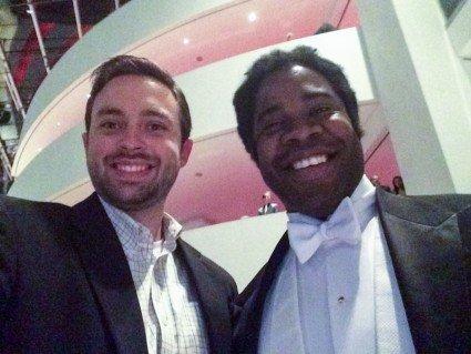 John got a selfie with Dashon Burton