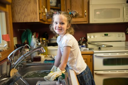 This young lady knows how to wash dishes. Way to go, Betsy!