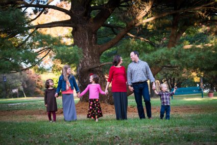 Afterward, I had fun taking some family pictures. I'm awed at the Lord's gift of these precious children to Nathan and Melanie!