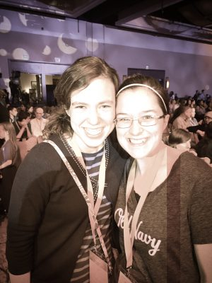 Anna and a blog reader!