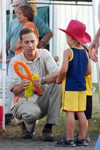Making a balloon for a little boy...