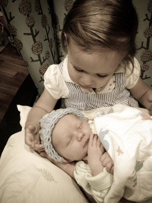 Big sister and little brother!