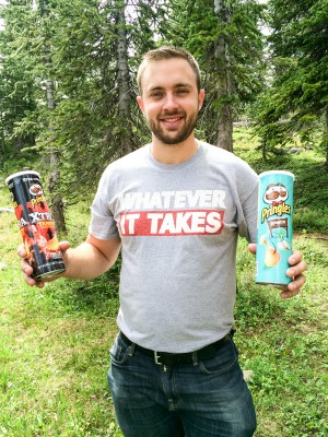 Pringles are a staple for hiking.
