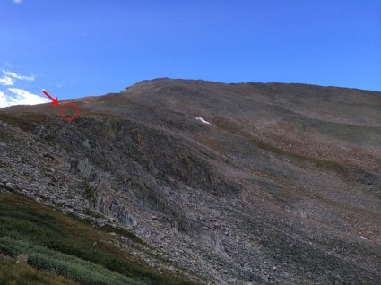 Distances can be deceiving. The hiker is that small dot.
