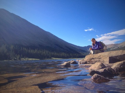 At Grizzly Lake.