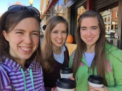 Sweet sister times as we explored two small towns today (and yes, another salted caramel mocha!).