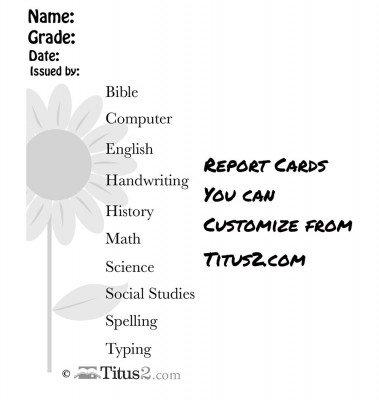 sunflower-fill-in-report-card