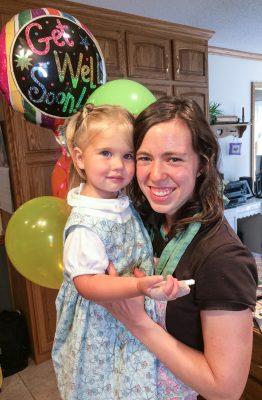 Ruthie even got balloons.