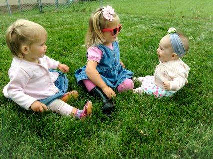 Lydia, Ruthanne, and Calia Maxwell: Cousins!