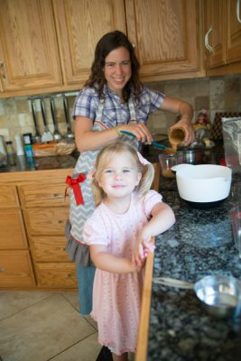Ruthie helped Anna make granola bars while the sign-making was in progress.