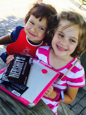 We Maxwell girls love chocolate, but not many of our nieces are chocolate fans, except for Bethany. So Anna just had to buy her chocolate-loving niece some chocolate!