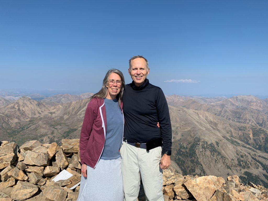 Steve and Teri on Mt. Elbert
